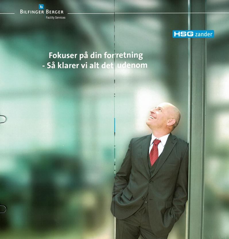 """Billede fra Bilfingers brochure, hvorpå der står """"Fokuser på din forretning - Så klarer vi alt det udenom."""""""
